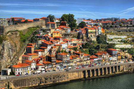 Guindais hill view in Porto, Portugal
