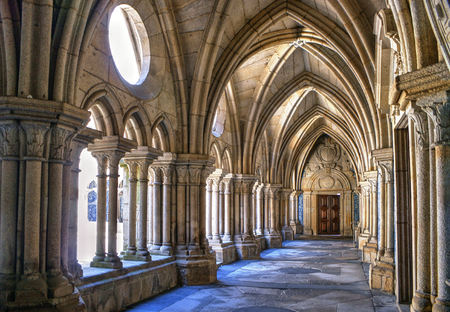 Gothic cloister of the cathedral of Porto in Portugal