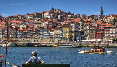 Ribeira view in Porto, Portugal Stock Photo
