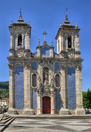 Baroque church of Ribeira de Pena in Portugal Stock Photo