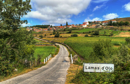 portuguese village rural village of lamas de olo in vila real portugal stock photo