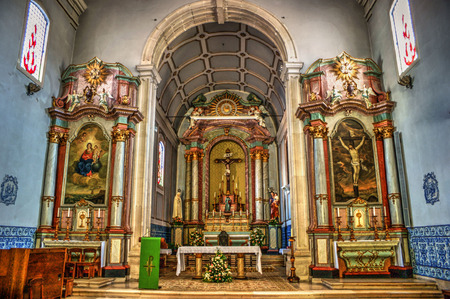 Main chapel of mother church, Figueira da Foz, Portugal Editorial