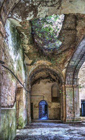 Ruined convent of Seiça, Figueira da Foz, Portugal Stock Photo - 74335355