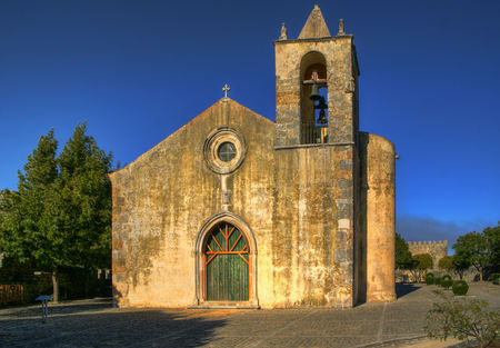 Santa Maria de Alcacova church, Montemor-o-Velho, Portugal Stock Photo - 78308722