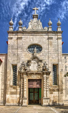 Facade of matriz church of Aveiro, Portugal Banco de Imagens