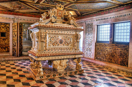 Santa Joana princess tomb in Aveiro, Portugal Editorial