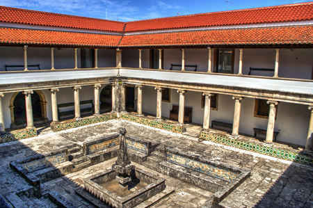 Cloister monastery of Jesus in Aveiro, Portugal Stock Photo