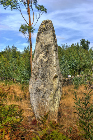 Luzim menhir in Penafiel, north of Portugal