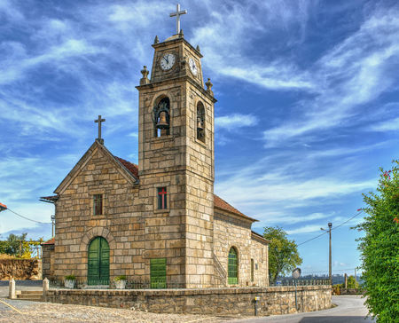Luzim church in Penafiel, north of Portugal Stock Photo