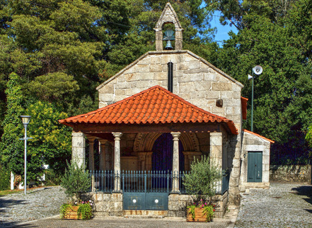 Romanesque chapel of Our Lady of Vale in Paredes, north of Portugal Banco de Imagens - 81758962