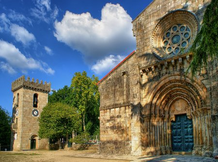Romanesque monastery of Pa�o de Sousa in Penafiel, north of Portugal