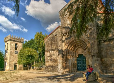 Romanesque monastery of Pa?o de Sousa in Penafiel, north of Portugal