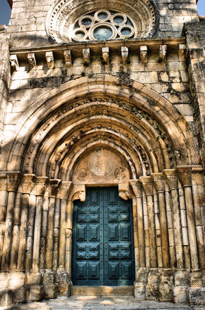 Detail of romanesque monastery of Pa�o de Sousa in Penafiel, north of Portugal