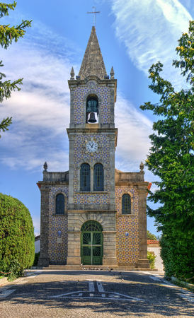 Santa Eulalia church in Pacos de Ferreira, north of Portugal Banco de Imagens