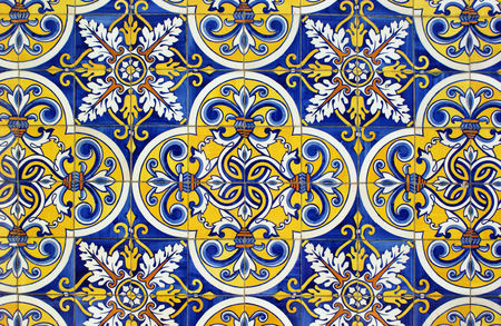 Traditional tiles in Santa Eulalia church, Pacos de Ferreira, north of Portugal