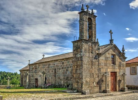 Old church of Sanfins de Ferreira in Pacos de Ferreira, north of Portugal Banco de Imagens