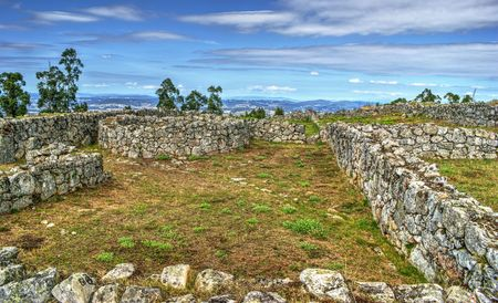 Proto-historic settlement in Sanfins de Ferreira, Pacos de Ferreira, north of Portugal Banco de Imagens - 81778936