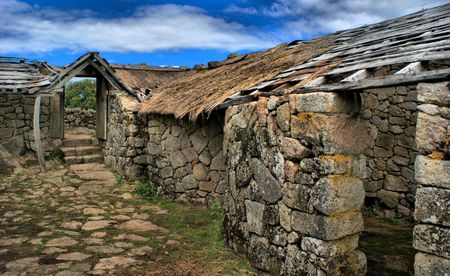 Proto-historic settlement in Sanfins de Ferreira, Pacos de Ferreira, north of Portugal Stock Photo