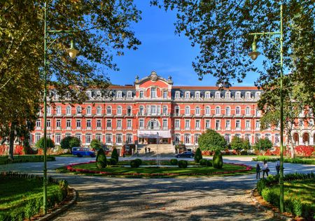 Vidago Palace Hotel in north of Portugal Banco de Imagens - 84963376
