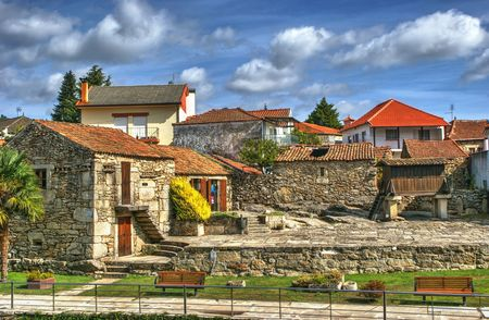 Small village of Boticas, Portugal Banco de Imagens