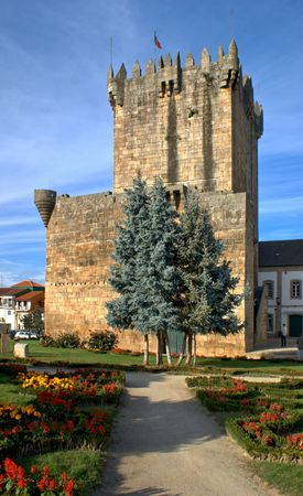 Old castle of Chaves, North of Portugal Editorial