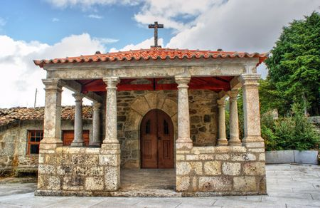 Old little church in Vila Pouca de Aguiar, Portugal Stock Photo