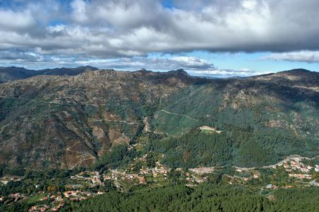 Scenic view of National Park of Peneda Geres in Portugal Banco de Imagens