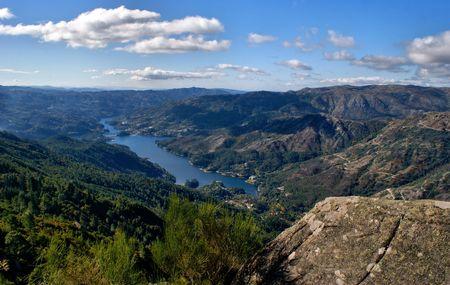 Scenic view of National Park of Peneda Geres in Portugal Standard-Bild