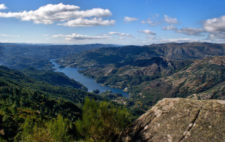 Scenic view of National Park of Peneda Geres in Portugal Stock Photo