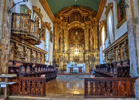 Inside Santa Maria do Bouro church in Amares, north of Portugal