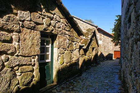 Rural village in National Park of Peneda Geres in Portugal Stock Photo