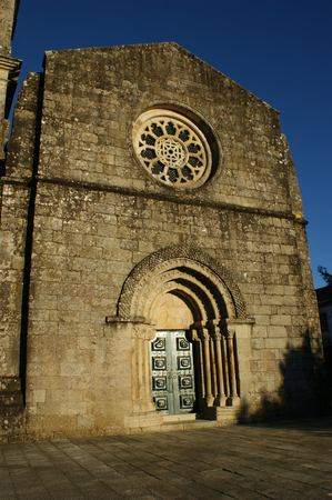Romanesque church of Fonte Arcada in Portugal Stock Photo