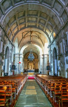 Inside Church of Loios in Santa Maria da Feira, Portugal Editorial
