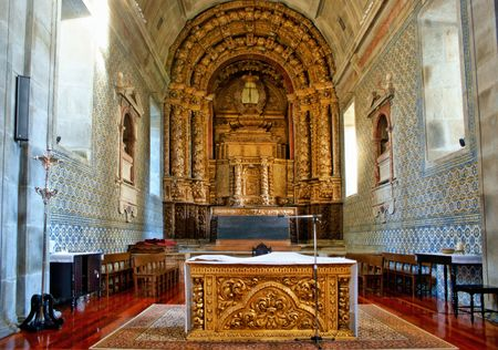 Altar church of Loios in Santa Maria da Feira, Portugal
