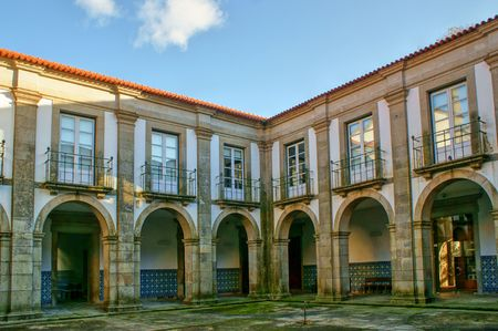 Cloister of Loios monastery in Santa Maria da Feira, Portugal Stock Photo