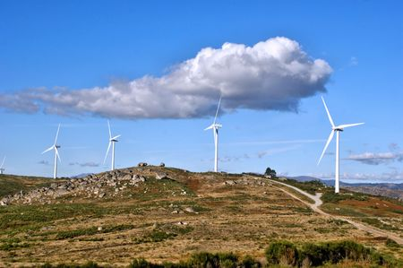 Wind energy in Fafe mountains, Portugal