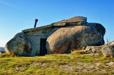 Rock house in Fafe mountains, Portugal