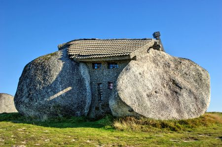 Rock house in Fafe mountains, Portugal Banco de Imagens - 95562221