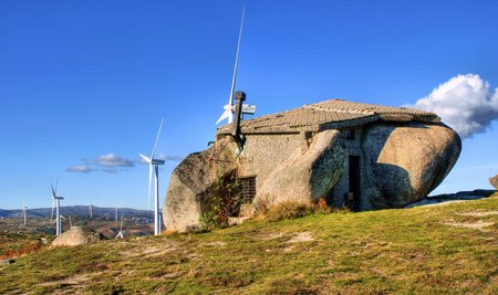 Rock house in Fafe mountains, Portugal Banco de Imagens - 95562222