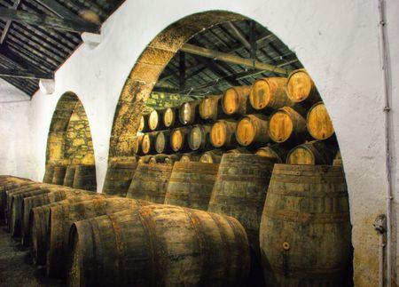 Port Wine Cellars in Vila Nova de Gaia, Portugal Banco de Imagens - 112586253