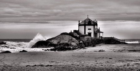 Chapel of the Lord of the Rock in Miramar, Portugal