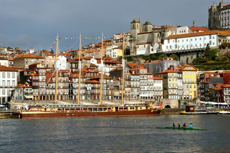 Ribeira view in Oporto, Portugal Stock Photo