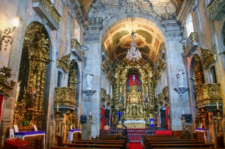Inside Carmo Church in Porto, Portugal
