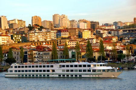 Cruise ship in Douro river, Portugal