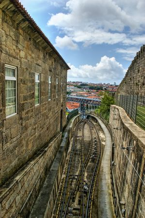 Railway of Guindais in Oporto, portugal