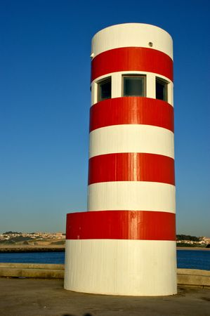 Oporto lighthouse in Portugal Stock Photo