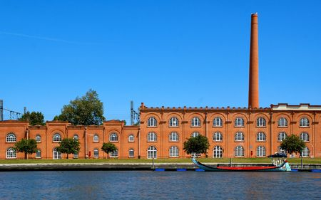 Old factory in Aveiro, Portugal Stock Photo