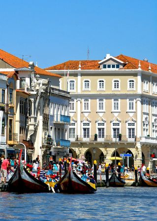 Typical boats in Aveiro, Portugal