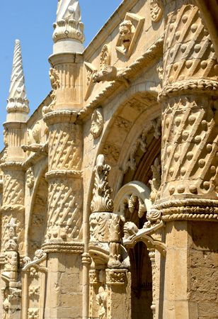 Detail of Jeronimos monastery in Lisbon, Portugal Banco de Imagens - 114397296