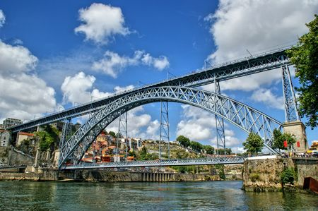 Old Iron bridge Luis I in Porto, Portugal
